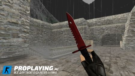 Модель ножа HD «M9 Bayonet  Crimson Web» для CS 1.6