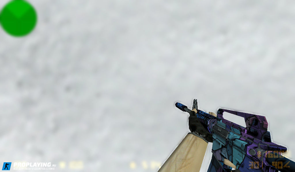 Default - M4A1 Colored для CS 1.6