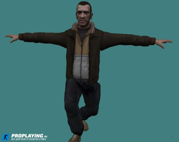 Модель Террориста  Niko Bellic для CS:1.6