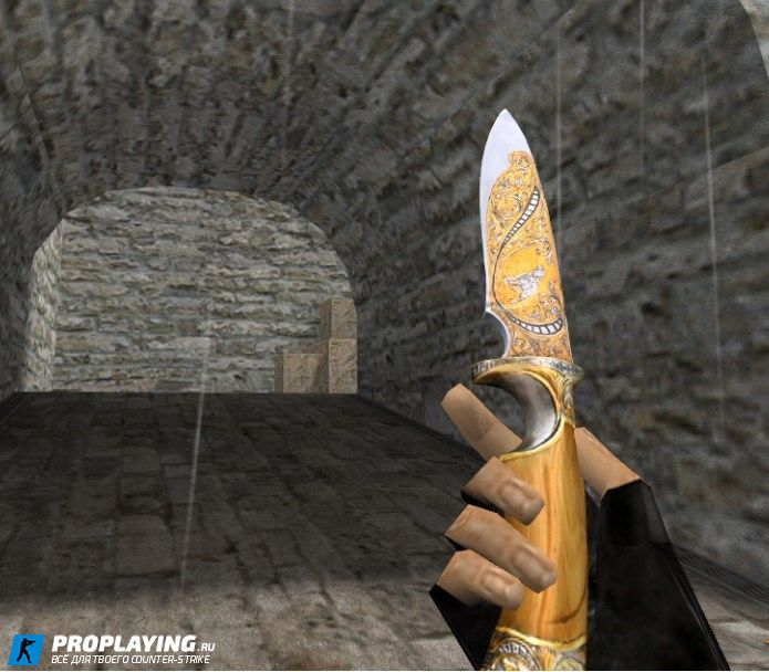 HD модель Knife «Engraved Blade» для CS 1.6