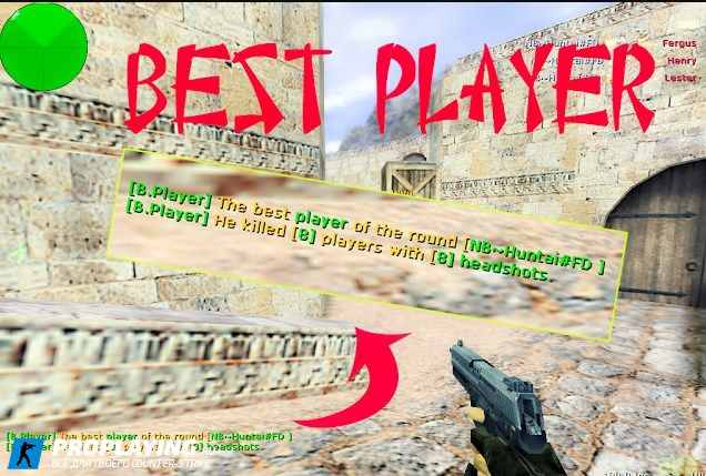 «Best player of the round» - плагин для CS 1.6 сервера