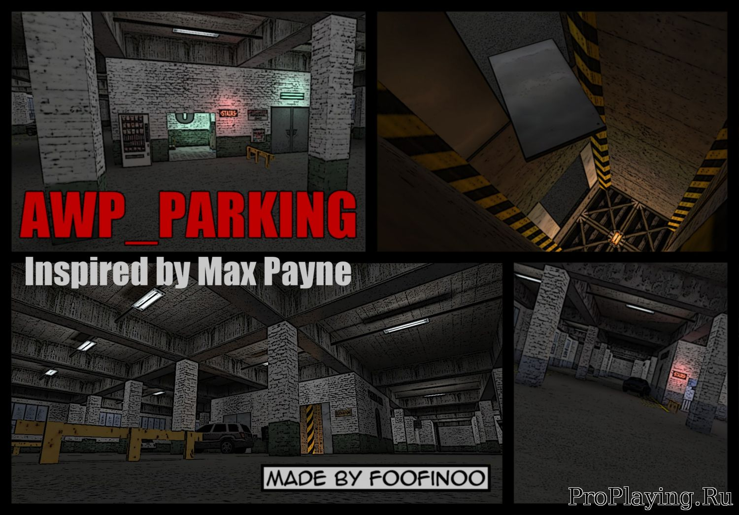 Карта awp_parking для CS 1.6