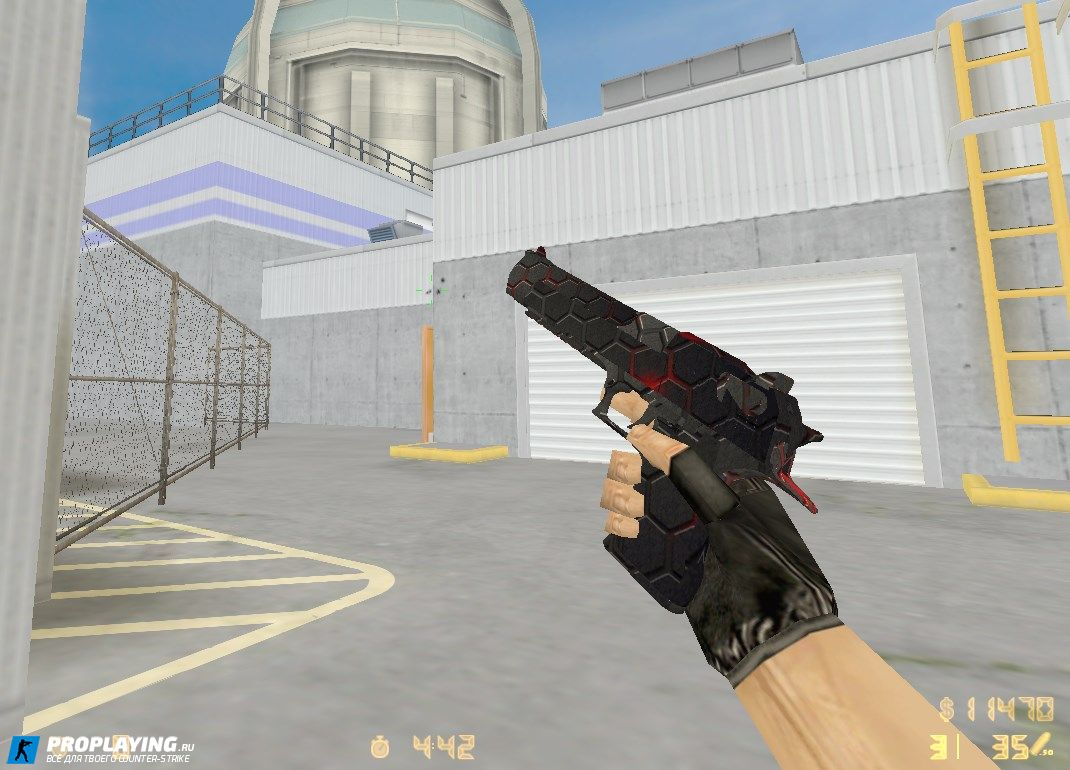 HD deagle Red Black Carbon для CS1.6
