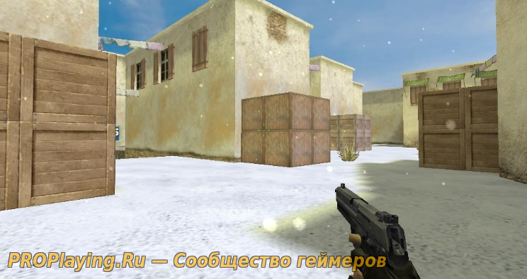 de_tuscan_winter - переделка карты CS 1.6 на  зиму