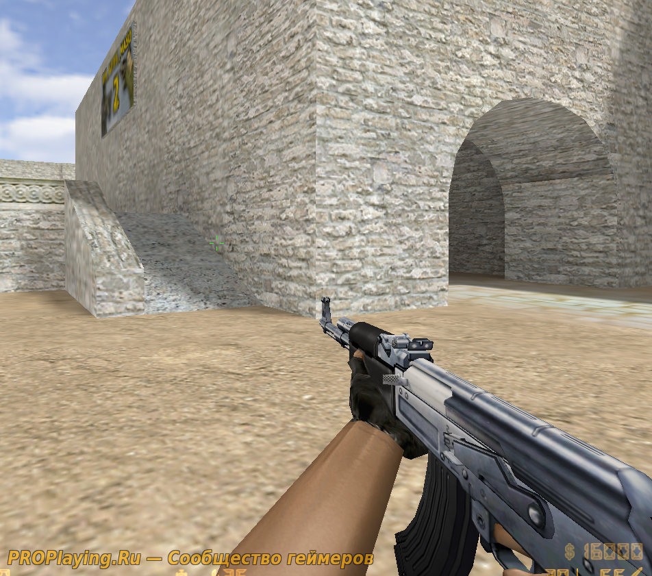 HD модель AK47 Chrome Silver для CS 1.6