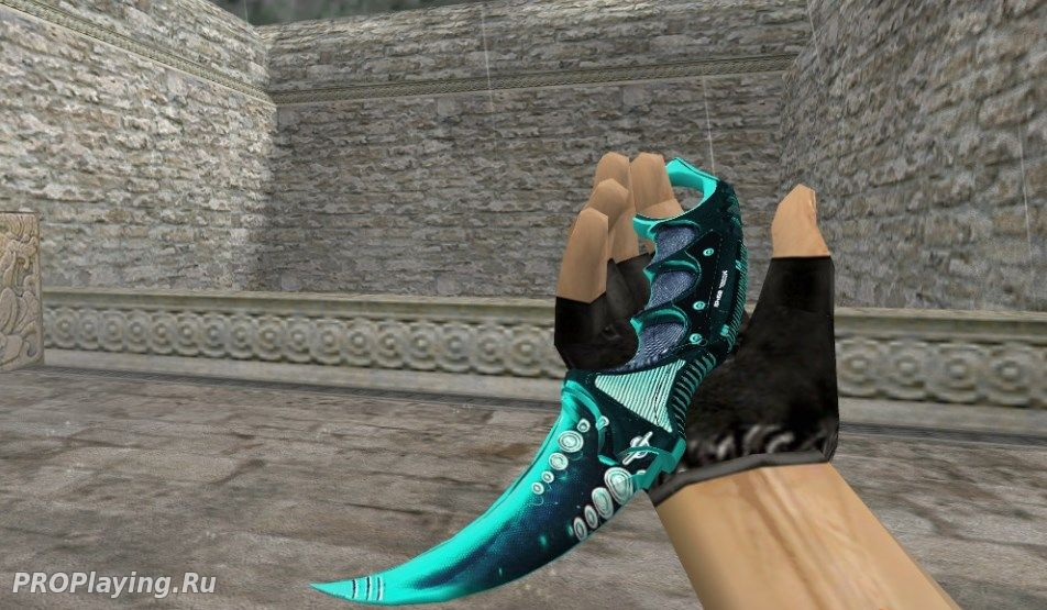 HD Karambit Blue Abstrakt для CS 1.6